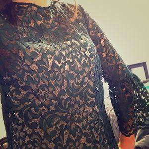Zara bell sleeve lace top
